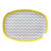 RICE,Rectangular Plate with Chevron Print,CouCou,Kitchenware