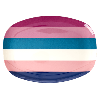 RICE,Rectangular Plate with Stripe Print,CouCou,Kitchenware