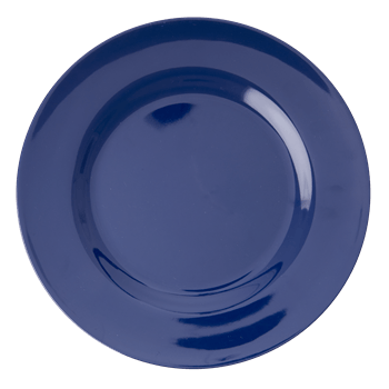 RICE,Kids Melamine Dinner Plate, Navy Blue,CouCou,Kitchenware