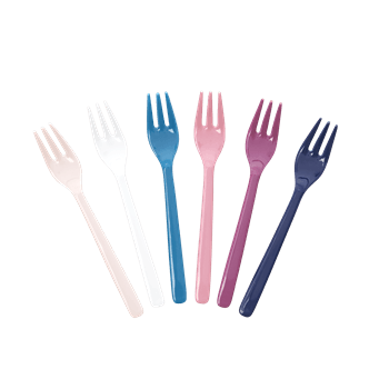 "RICE,6 Forks in Assorted ""Simply Yes"" Colors,CouCou,Kitchenware"