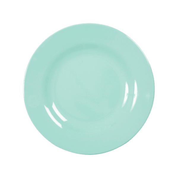 RICE,Kids Melamine Lunch Plate, Dark Mint,CouCou,Kitchenware
