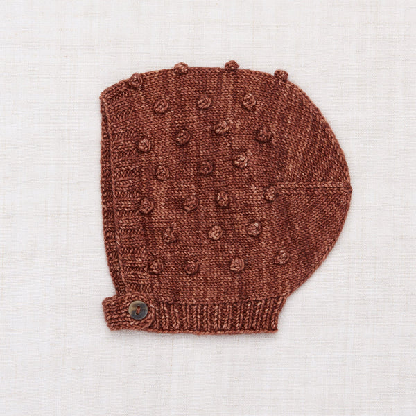 Popcorn Bonnet in Chestnut