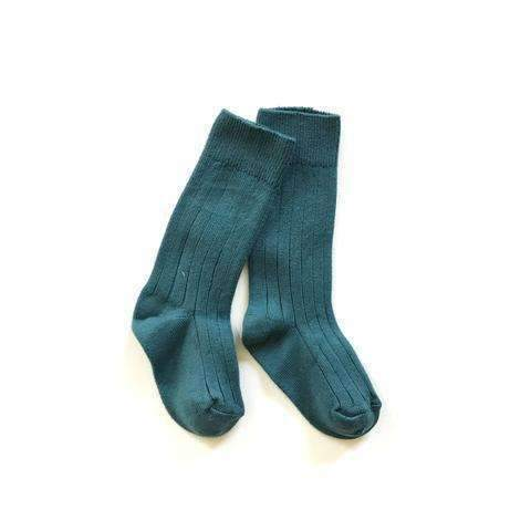 Collegien,Knee High Ribbed Socks, Marine Teal,CouCou,Girl Shoes, Socks & Tights