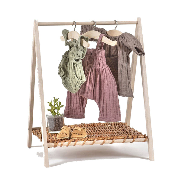 Doll Wooden Cloth Rack Wendy