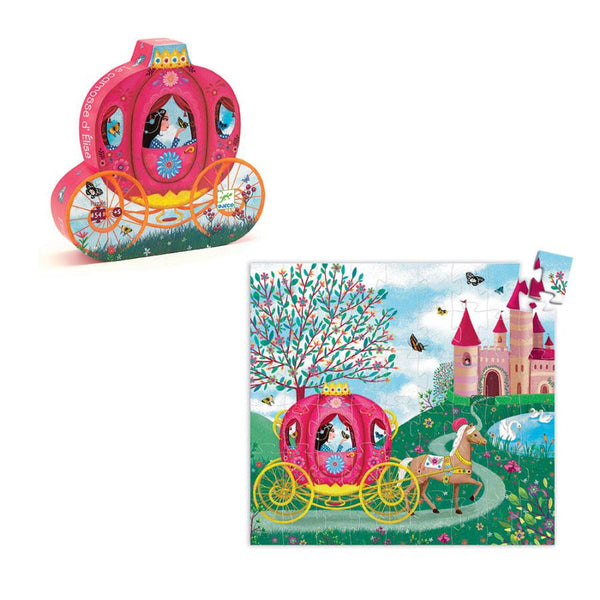 Djeco,Silhouette Puzzle- Elise's Carriage 54 pcs,CouCou,Toy
