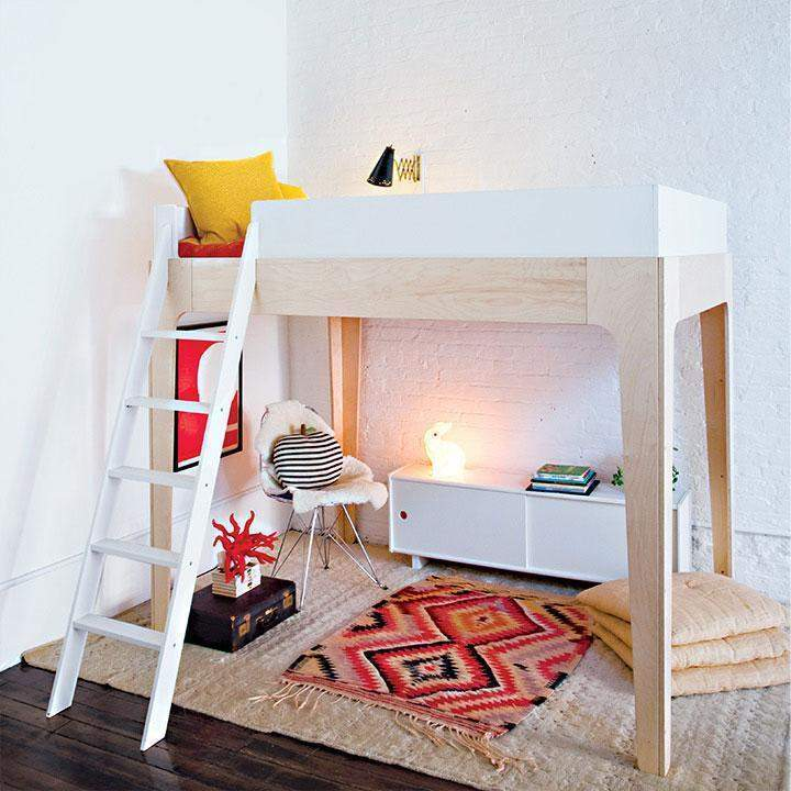 Oeuf,Perch Loft Bed, Full,CouCou,Furniture and Gear
