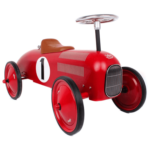 Ride-On Racing Car in Vintage Red