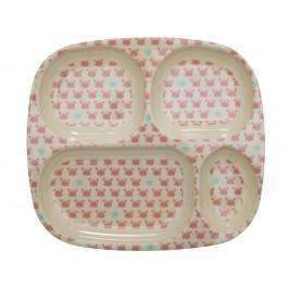 RICE,4-room plate with Crab & Starfish Print,CouCou,Kitchenware