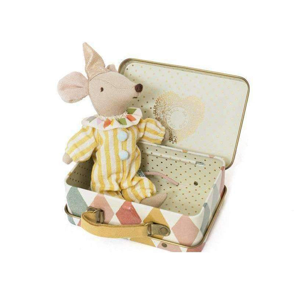Maileg,Clown Mouse in Suitcase,CouCou,Toy