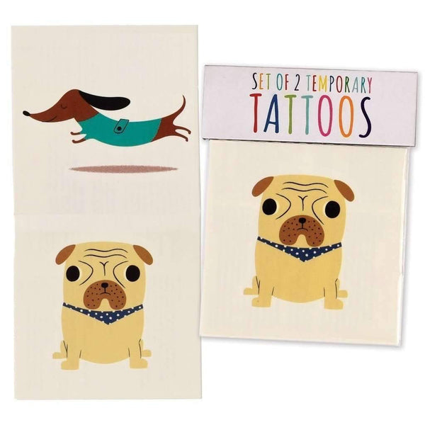 Rex,Set of 2 Dog Tattoos,CouCou,Girl Accessories & Jewellery