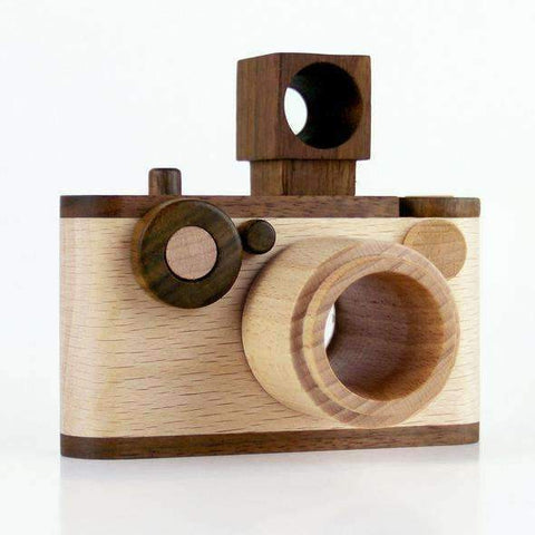 Say Cheese 35MM Vintage Wooden Toy Camera With Kaleidoscope Lens
