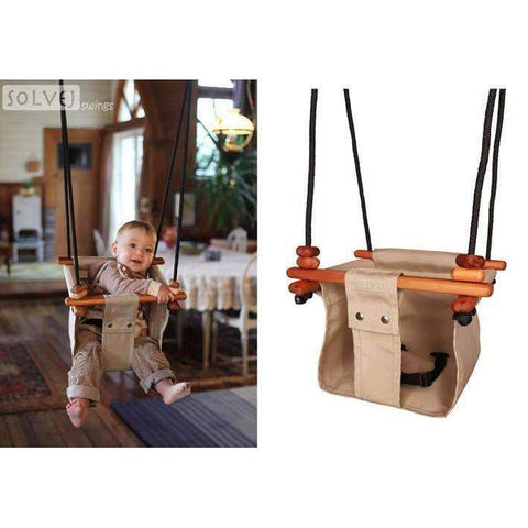 Baby and Toddler Swing, Soft Linen