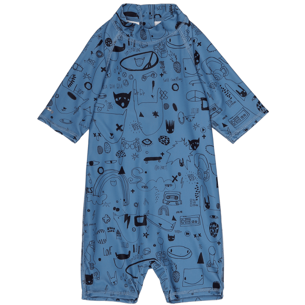 Soft Gallery,Rey Sun Suit in Blue,CouCou,Boy Swimwear