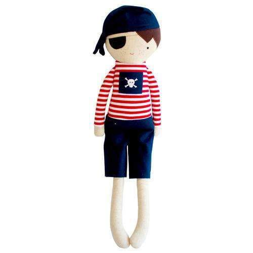 Alimrose,Linen Pirate Boy in Navy,CouCou,Toy