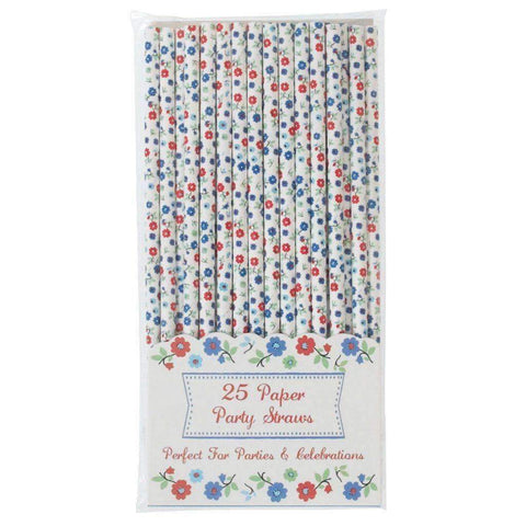 Forget Me Not Paper Straws