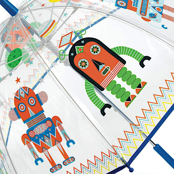 Djeco,Kids Umbrella, Robots,CouCou,Boy Accessories
