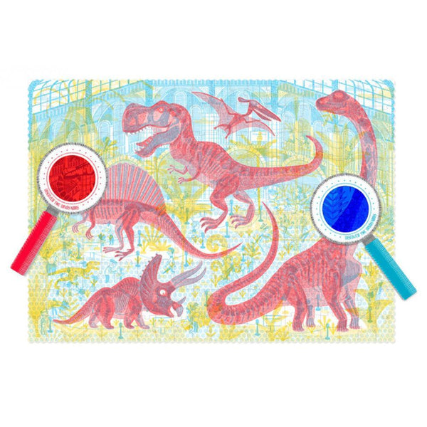 Discover the Dinosaurs Puzzle (200 pcs) - Magic Glasses