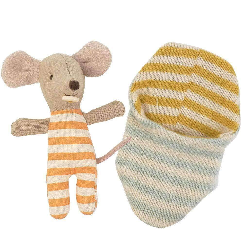 Maileg,Baby Mouse in Sleeping Bag,CouCou,Toy
