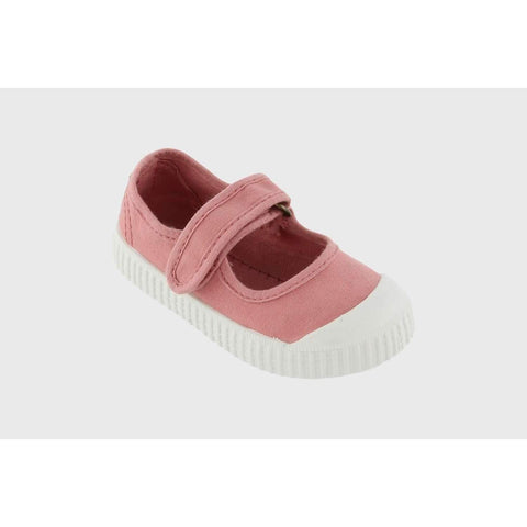 Mary Jane Canvas Sneaker- Nude