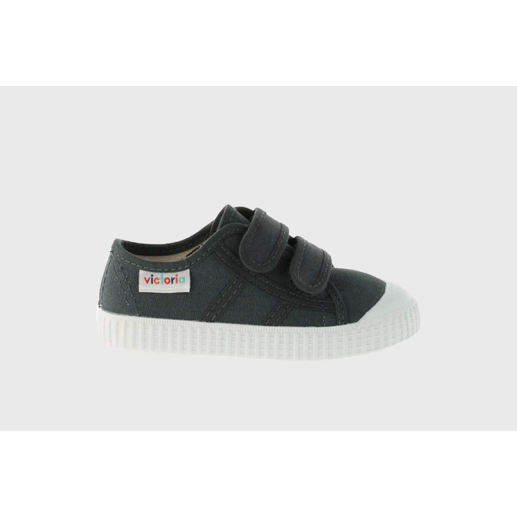 Victoria,Double Velcro- Charcoal,CouCou,Boy Shoes & Socks