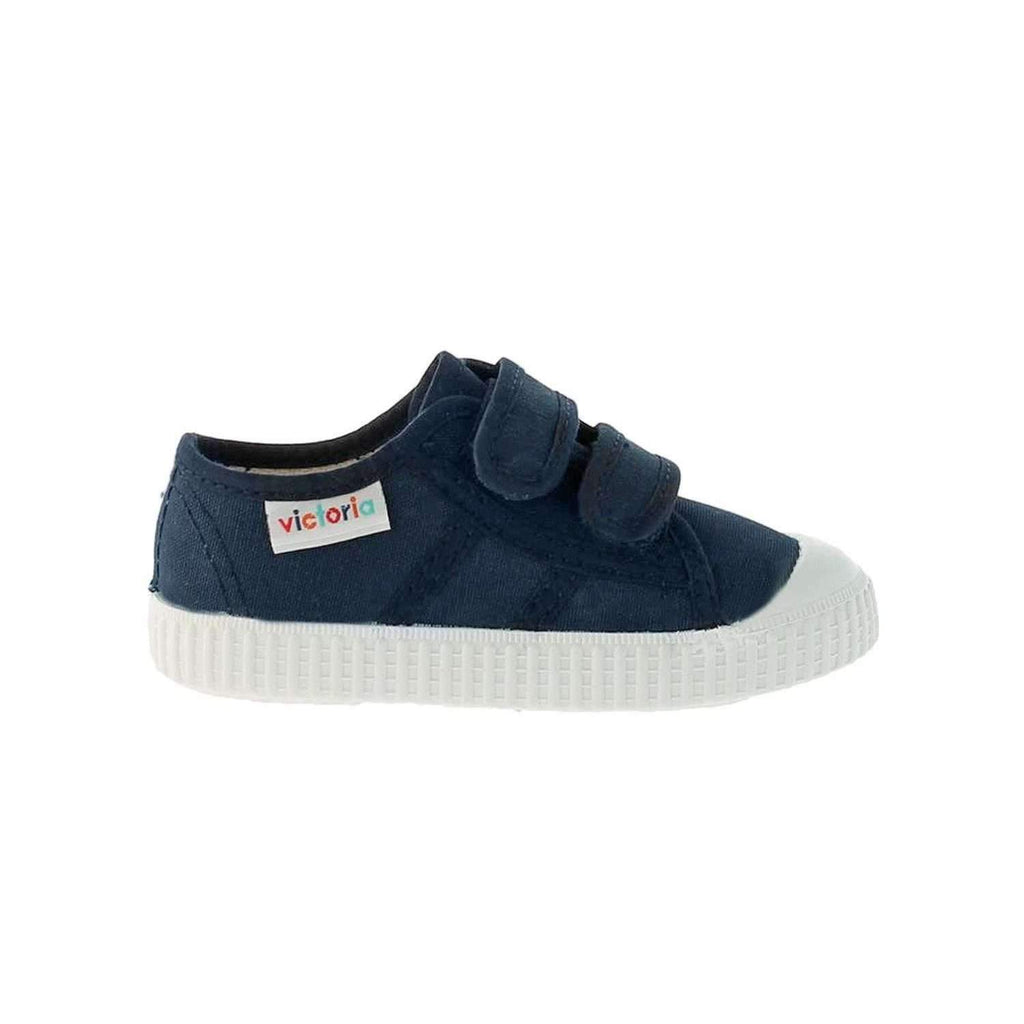 Victoria,Double Velcro, Marino/Navy,CouCou,Boy Shoes & Socks