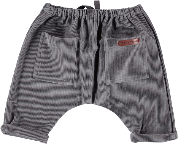 Tocoto Vintage,Corduroy Pants in Grey,CouCou,Baby Boy Clothes