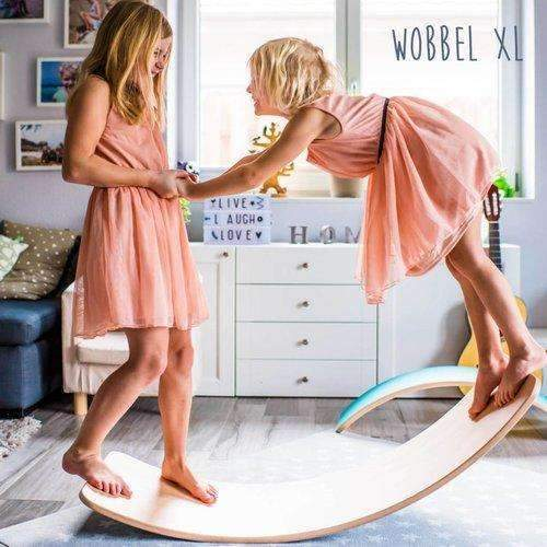 Wobbel Board,Wobbel Waldorf Balance Board Natural with Transparent Lacquer,CouCou,Toy