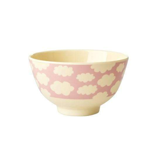 RICE,Small Bowl with Cloud Print- Pink,CouCou,Kitchenware