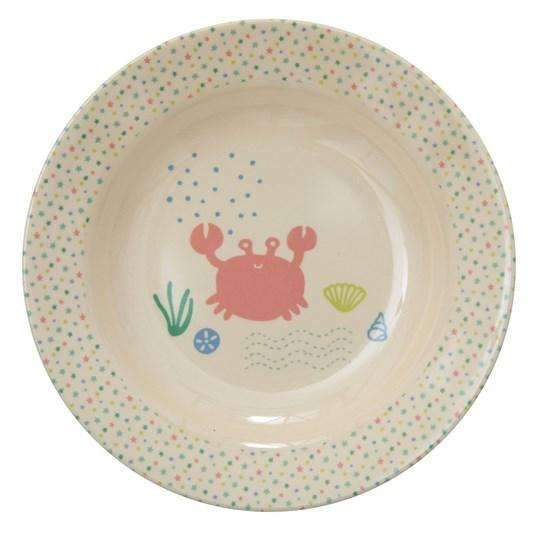 RICE,Bowl with Ocean Life Print,CouCou,Kitchenware