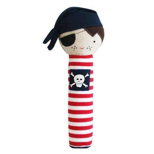 Alimrose,Linen Pirate Squeaker in Navy,CouCou,Toy