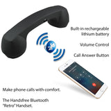 Softalk 49002 Retro Handset Bluetooth Black