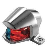 Combination Red/Green Nav Lights - 1-Mile Zamak Sidelights Bi-Color Bullet Style - BacktoBoating