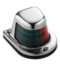 Combination Red/Green Nav Lights - Classic Stainless Bi Color Nav Light - BacktoBoating