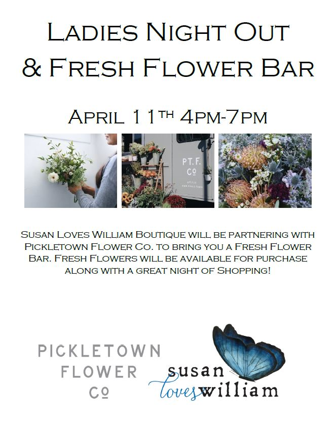 Ladies Night Out and Fresh Flower Bar