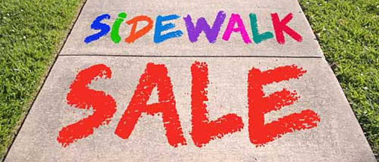 APRIL 27TH-29TH - SIDEWALK SALE