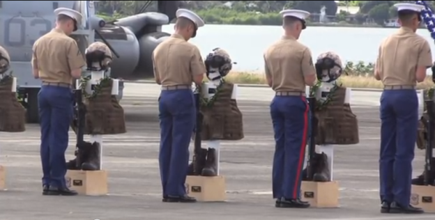 Video: Memorial Service for 12 Marines Killed in Hawaii