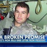 Watch: Mother of Wounded Veteran Sells Letter From Obama to Pay for His Medical Bills