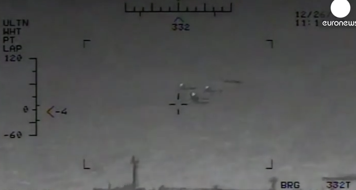 WATCH: Navy Releases Video Showing Iranian Military Firing Rockets Near Harry S. Truman Aircraft Carrier