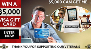 Who Needs The Powerball When There Is A $5,000 Visa Card HERE Just For Helping Our Heroes!