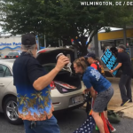 VIDEO: Vietnam Vet Reacts Angrily at  Westboro Church Protester Stepping on the American Flag