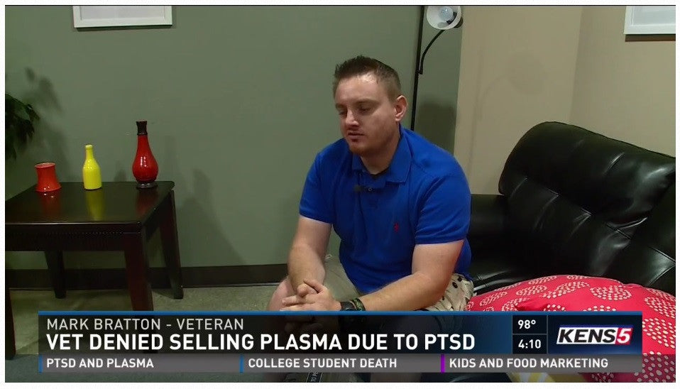Veteran Turned Away From Donating Blood Because of His PTSD