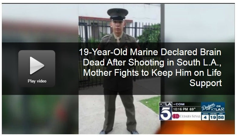 19-Year-Old Marine Declared Brain Dead After Shooting in South LA