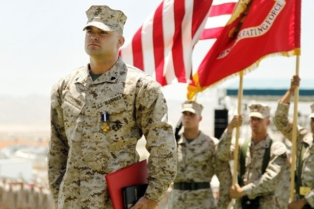 Marine Hero Who Killed Taliban Fighter Hand to Hand Retires