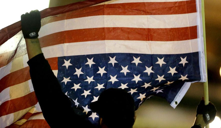 Vet Arrested For Hanging US Flag Upside Down In Protest