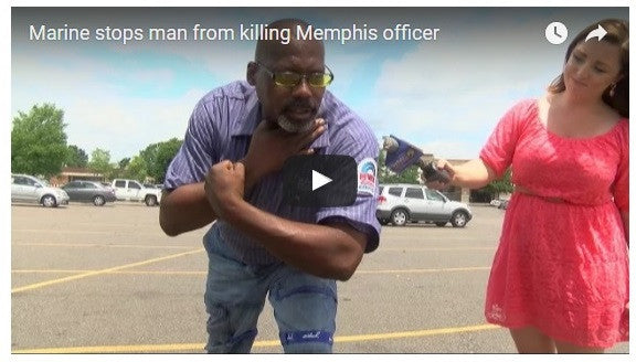 Former Marine Foils Attack On Memphis Cop