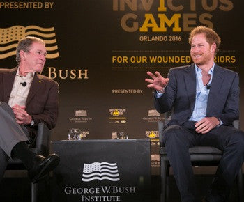Prince Harry And President Bush Hope To Change Perceptions Of 'Invisible Injuries'