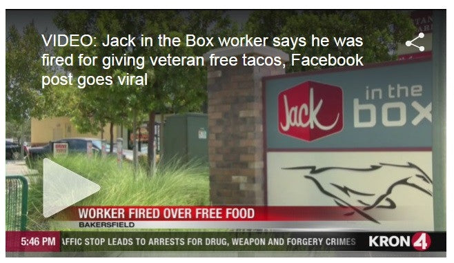 Teen Fired For Giving Vet Tacos