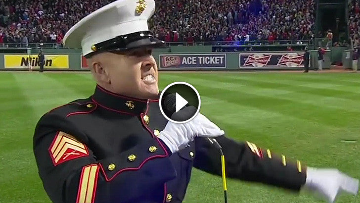 "Marine Left 30,000 People Speechless With Beautiful Rendition Of ""God Bless America"""