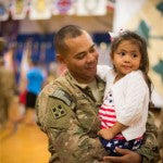 Little Girl Can't Wait Until End Of Military Ceremony To Greet Her Dad!