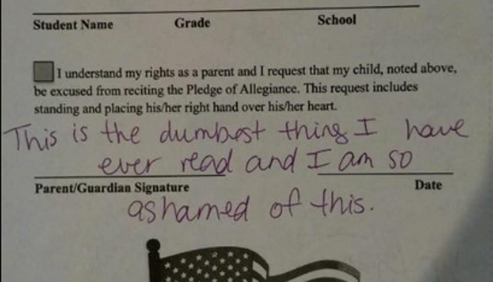 "Parents Furious After School Allows Children To ""OPT-OUT"" Of Pledge of Allegiance!"